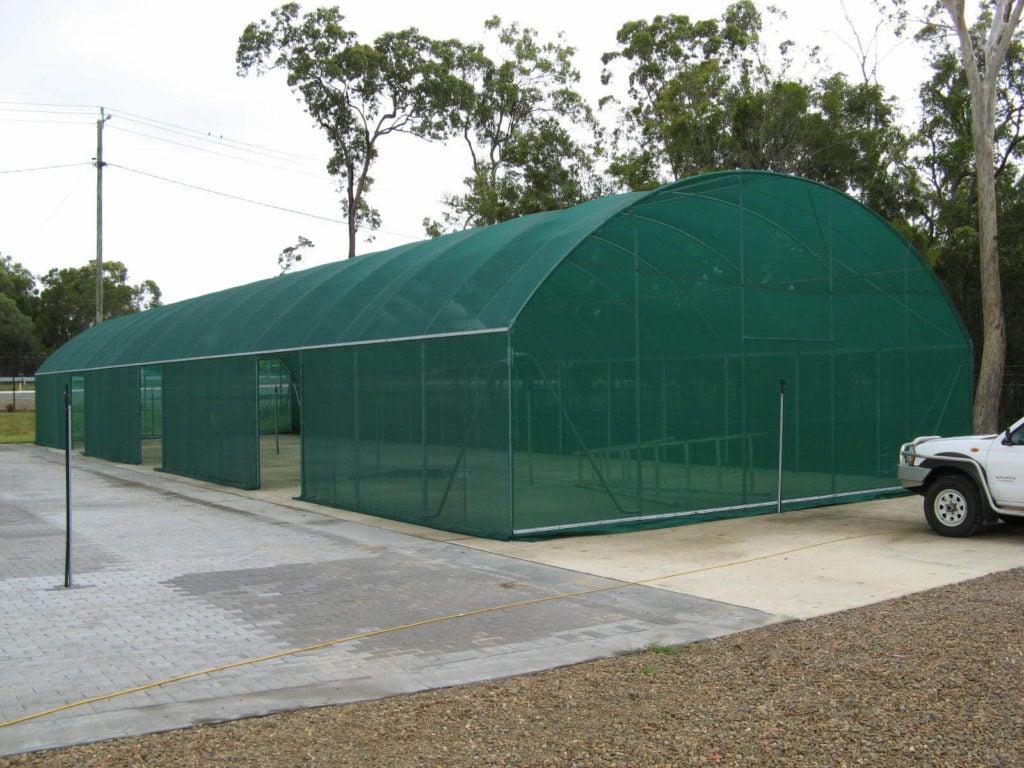 Vertical Wall Shadecloth Tunnelhouse