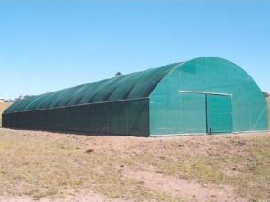 Vertical Wall Shadecloth Tunnelhouse
